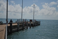 1.Palm Cove Jetty  with people fishing  2. Palm Cove Jetty (middle section)  3. Palm Cove jetty and boat ramp