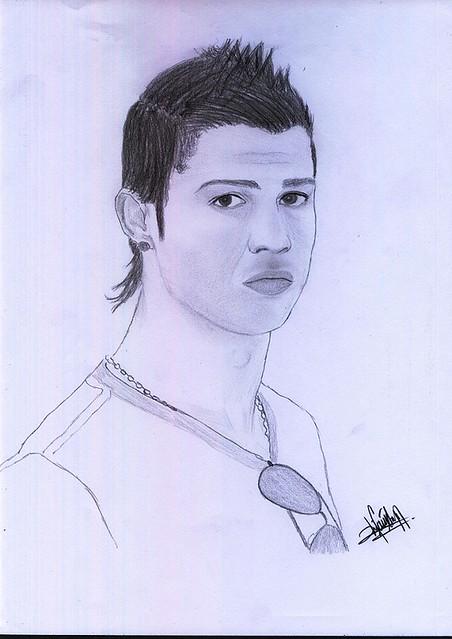 how to draw ronaldo cartoon easy