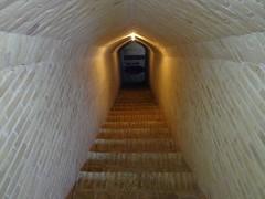 Escadas para a cisterna do edifício do Hotel Kohan
