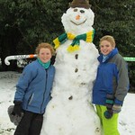 Weezie & Molly's snowman