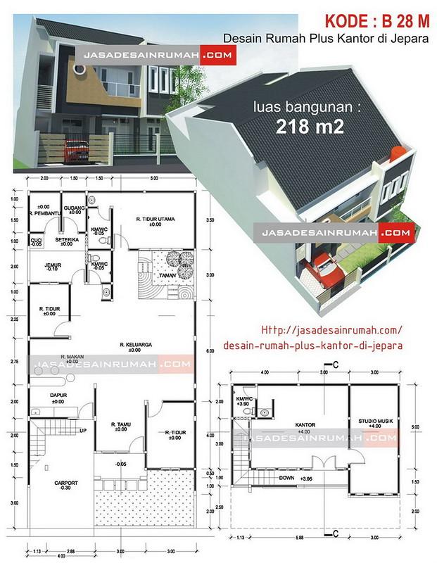 Desain Rumah Plus Kantor Di Jepara Jasa Desain Rumah