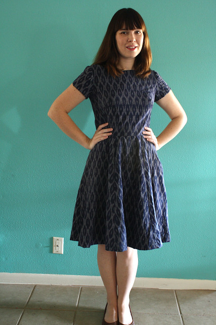 Self Drafted Back Cut-out dress