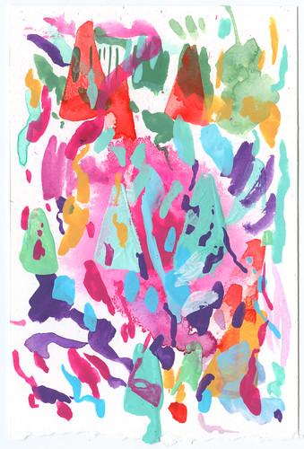 blotting paper painting