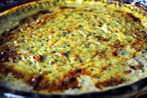 Roasted Garlic, Spinach & Brie Dip