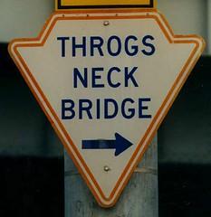Throgs Neck Bridge sign