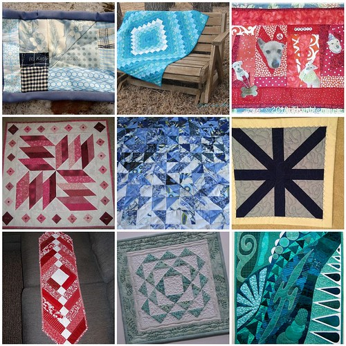 9 quilts created for the 'My Favorite Color' Project QUILTING Challenge