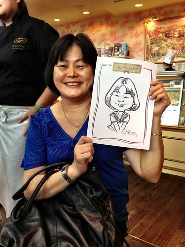 caricature live sketching for Au Chocolat Opening - Day 2 - 6