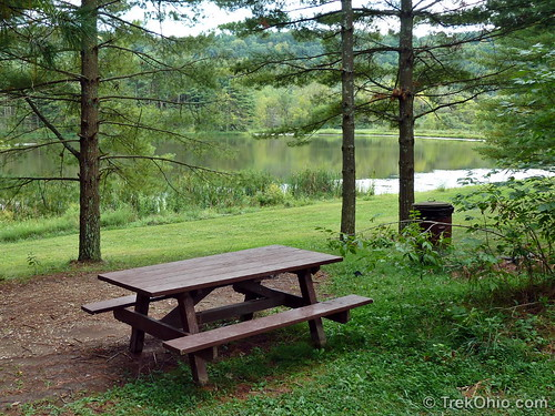 Picnic area near lake