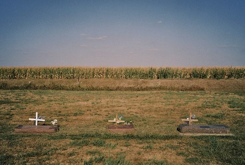 summer cemeteries film home cemetery grave analog 35mm landscape iso200 cornfield crosses rangefinder august iowa graves fujifilm xa gravestones olympusxa 2012 fujisuperia200 compact35 colornegativefilm taboriowa statehighway275