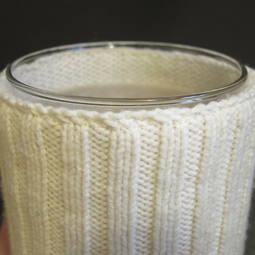 Sweater-Wrapped Candle Holders