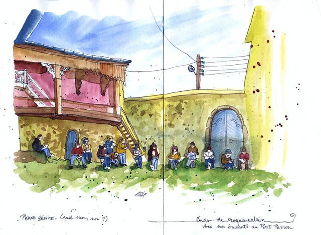 Teaching urban sketching