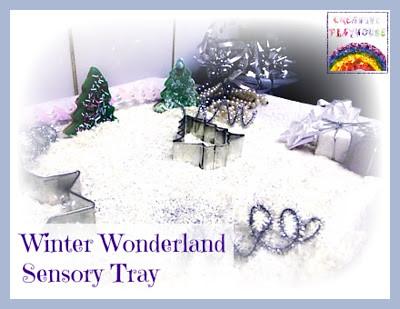Winter Wonderland Sensory Tray (Photo from Creative Playhouse)