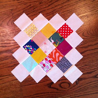 Catching up on bee blocks this morning...granny square for heather #dontworrybeehappy
