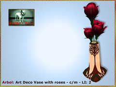 Bliensen - Arbol - Art Deco Vase with 3 roses