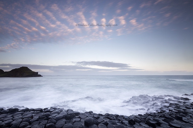 Morning light at the Giants Causeway