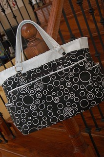 Diaper bag with removable Clutch- back