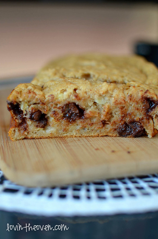 Chocolate Chip Banana Bread made with Greek Yogurt - Lovin' From the ...