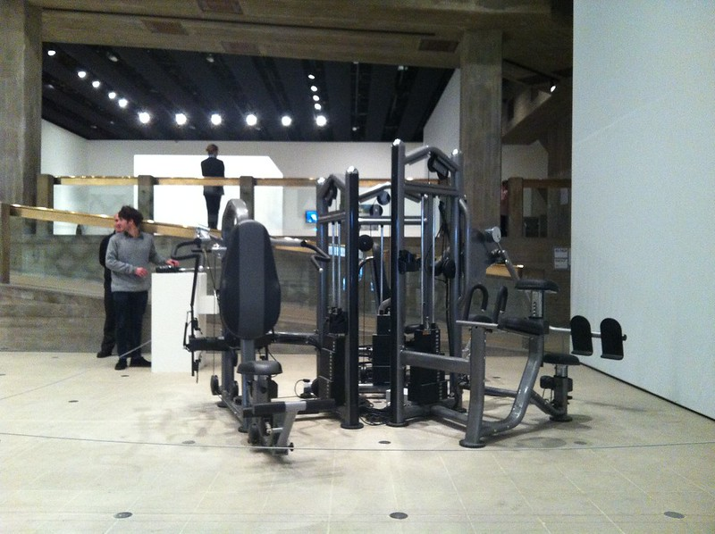 Xu Zhen, Untitled (2007), Gym machine, remote control