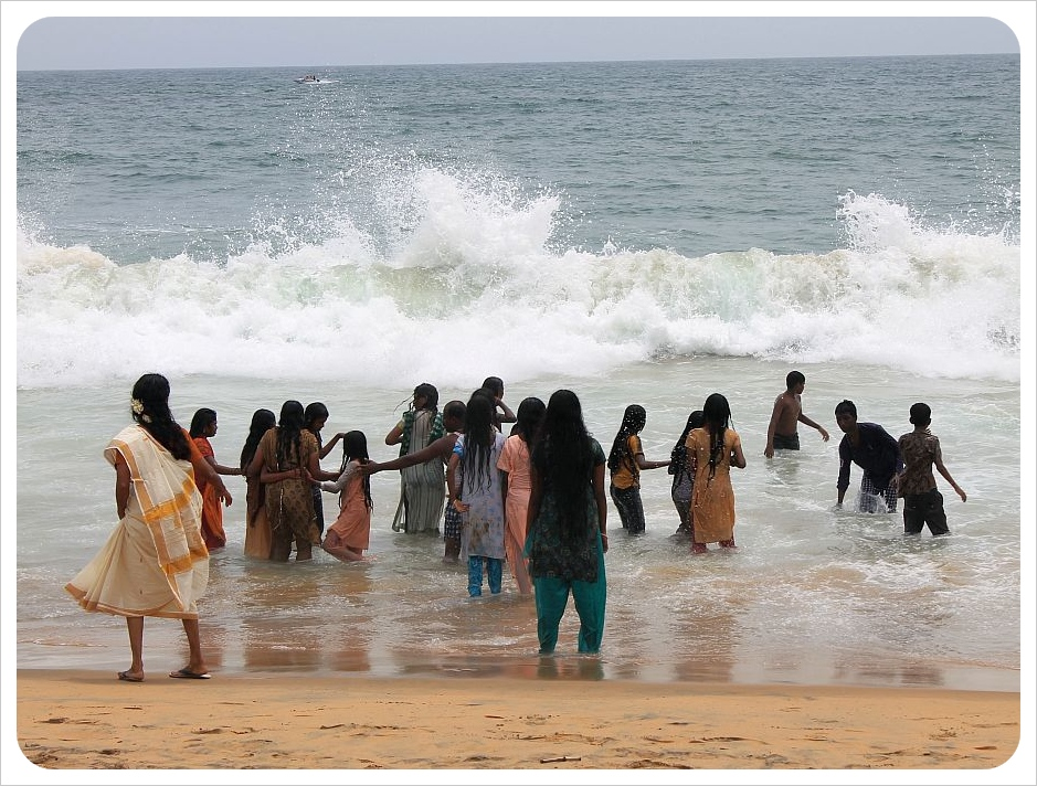 indians on the beach