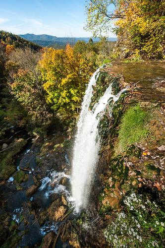 autumn fall water colors waterfall rocks covington fallingsprings
