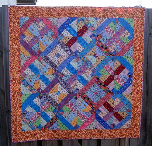 jelly roll heart quilt