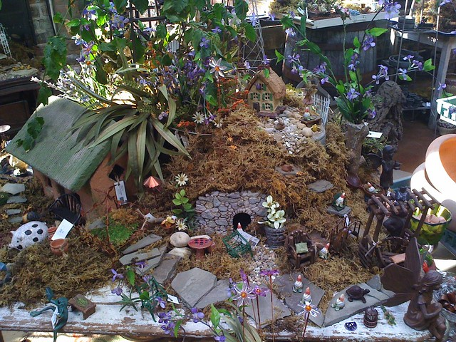 miniature garden at Bloomen Gardens in Sycamore