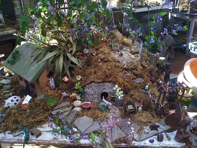 miniature garden at Bloomen Gardens in Sycamore