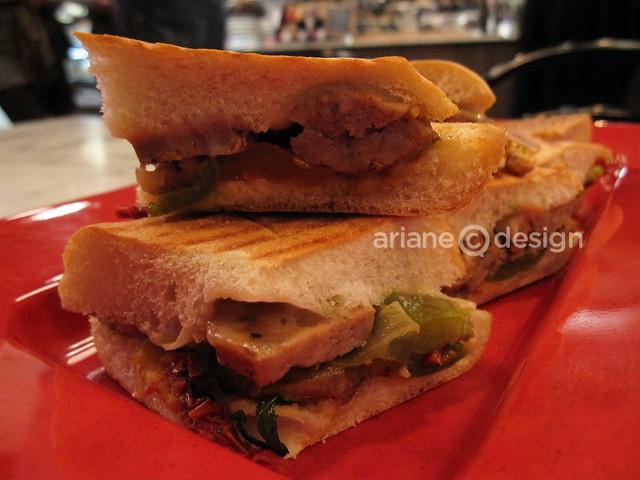 Take Five Cafe Gastown/roasted lamb panini