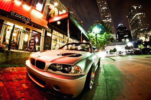 BMW at night Downtown Houston | Fisheye Lens | WWPW 2012 - 010