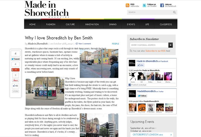 INTERVIEW: MADE IN SHOREDITCH