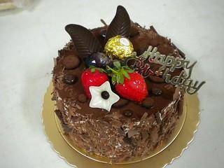 生日蛋糕 巧克力布丁