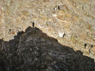 Climbergirl Shadow on Mt. Bancroft