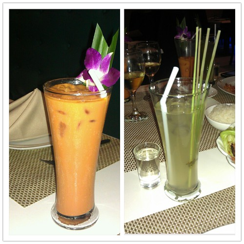 Beverages @ Thai Bistro (Thai Tee and Lemongrass Tea)