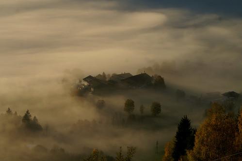 salzburg fog sunrise austria österreich autriche saalfelden ö öst biberg