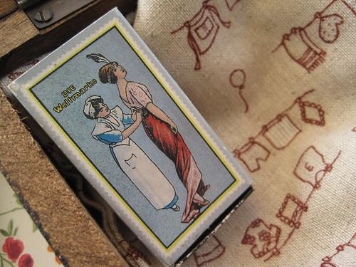 Tela adorable y corchetes vintage