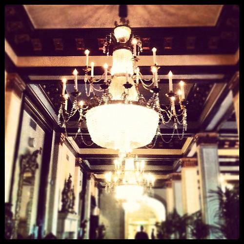 My fancy hotel lobby. I feel under-dressed.