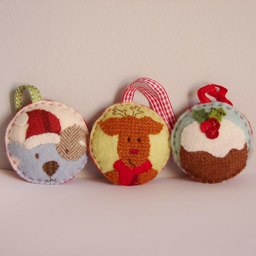 Christmas ornaments dog reindeer pudding