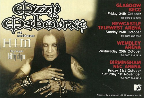 10/24/03 - 11/01/01 Ozzy Osbourne UK Tour