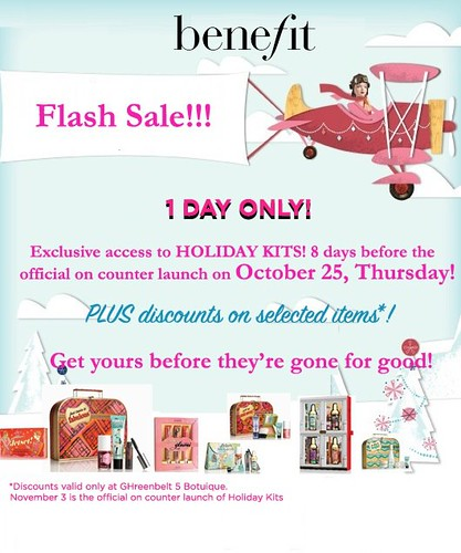 benefit flash sale