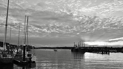 Gloucester MA Harbor At Dusk South Channel 5:30PM 10/24/12