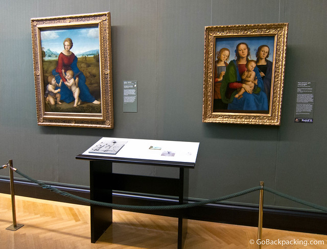 Inside the Kunsthistorisches Museum, you can find one of Raphael's masterpieces, The Madonna of the Meadow (1505)