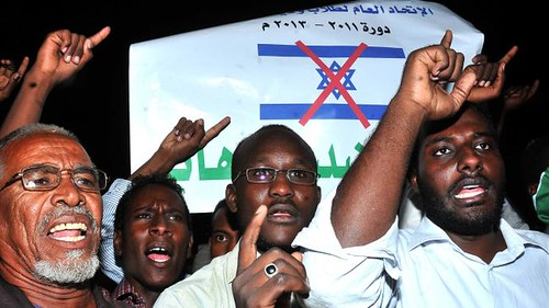 Sudanese demonstrate against the US and Israeli governments in the aftermath of the bombing by Tel Aviv of a weapons factory. Relations between Israel and Sudan have worsened over the years. by Pan-African News Wire File Photos
