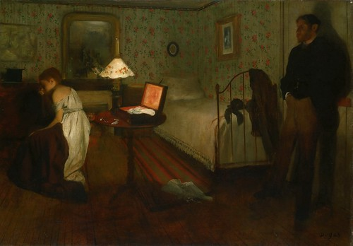 Edgar Degas - Interior [c.1868] by Gandalf's Gallery