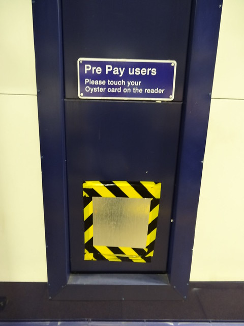 Missing Oyster Card Reader