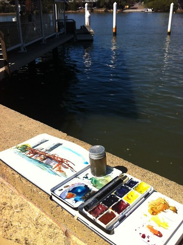 Waiting for the ferry and splashing paint around by borromini bear