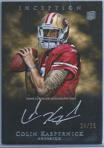 2011 Topps Inception Rookie Autographs Silver Ink #SSCK Colin Kaepernick (24 of 25)