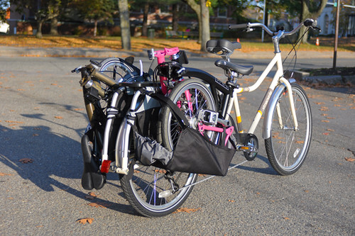 Two Bromptons on an Xtracycle