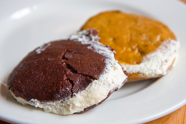 Whoopie pie and pumpkin whoopie pie, Oak Grove Plantation