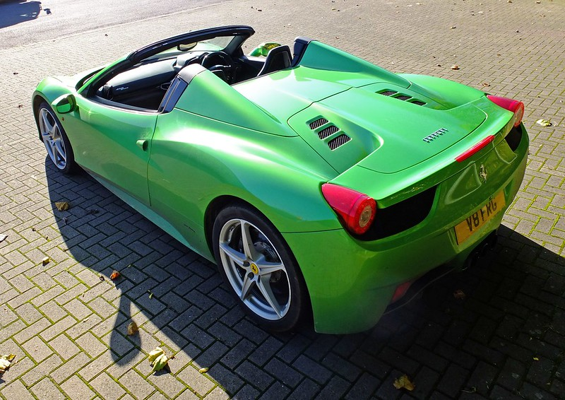 green ferrari 458 spider - Ferrari 458 Spider Green