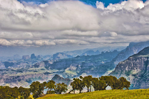 mountains nature landscape scenery valley ethiopia simien
